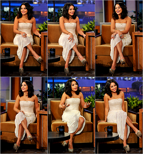 "1/02/12 : Vanessa Hudgens au "" The Tonight Show with Jay Leno """