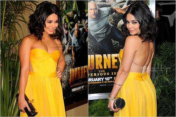 """2/01/12 : Vanessa à la Grande Avant-Première de """"The Journey 2"""" à Los Angeles."""
