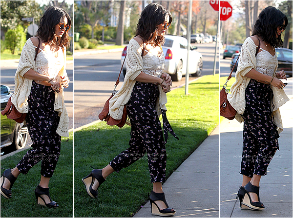 *  03/01/12 : Vanessa arrivant chez ses parents à North Hollywood. Flop je n'aime pas son pantalon.    *