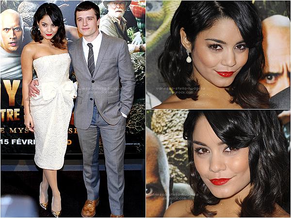 """*  12/02/12 : Vanessa et une partie du Cast de """" The Journey 2 """" à l'Avant Première Française du film à Paris.    *"""