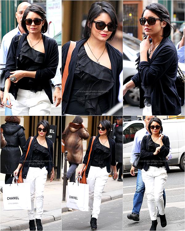 *  14/02/12 : Après avoir répondu à plusieurs interviews, Vanessa est allée à la boutique Chanel toujours à Paris.