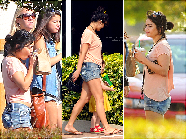 *   01/03/12 : Vanessa, Ashley et Selena sortant d'un Starbucks en Floride.   *