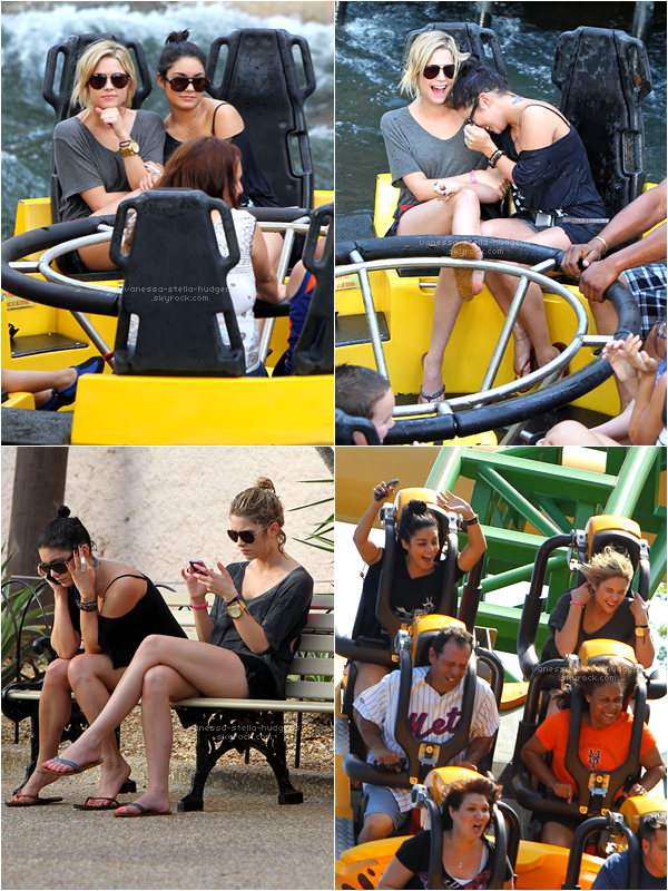 """*  03/02/12 : Vanessa et Ashley ne se quittent plus, en effet, elles ont une nouvelle fois été vu ensemble, cette fois-ci au parc d'attraction """"Busch Gardens"""" (Floride).    *"""