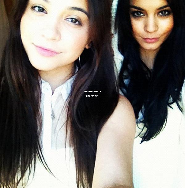 *   Stella et Vanessa ont passé la soirée de hier ensemble , en voici une photo postée par Stella. ♥ Enjoy ♥   *