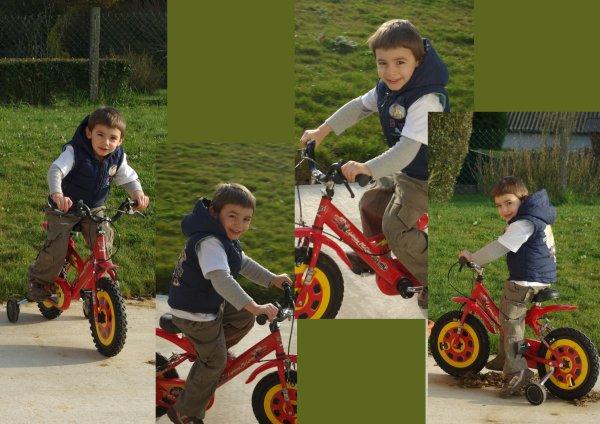 Retour du soleil, on peut jouer dehors à nouveau, ça fait plaisir de retrouver son vélo...