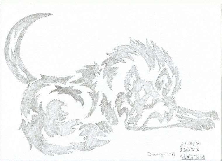 Loup (Wolf) (Tatouage)