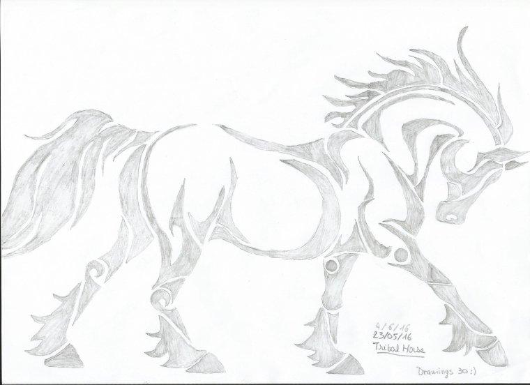 Cheval (Tatouage) n°1