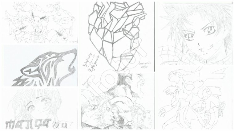 Best Of dessins (montages de dessins au fil de l'année) - Drawiings30:)