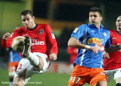 Short du MHSC porté par Olivier Giroud en coupe de la ligue 2010-2011