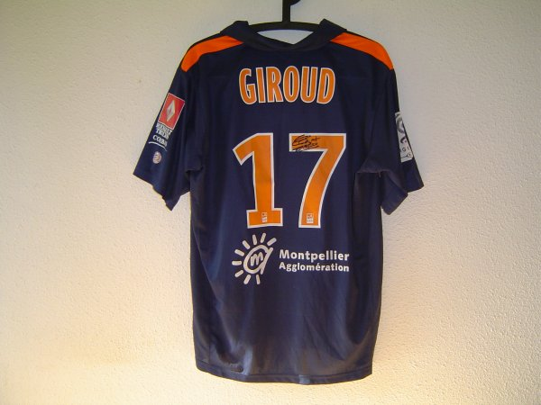 Maillot du MHSC porté par Olivier GIROUD saison 2010-2011