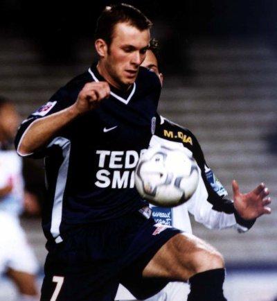 Maillot du MHSC porté par Olivier SORLIN saison 2000-2001