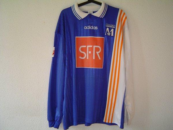 Maillot du MHSC porté en coupe de la ligue 96-97