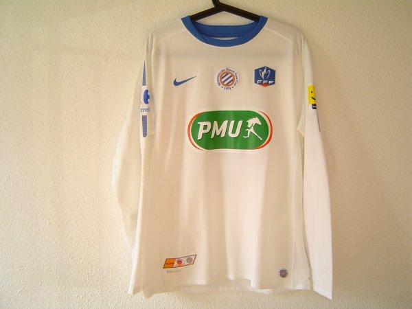 Maillot du MHSC porté en coupe de France 2011-2012