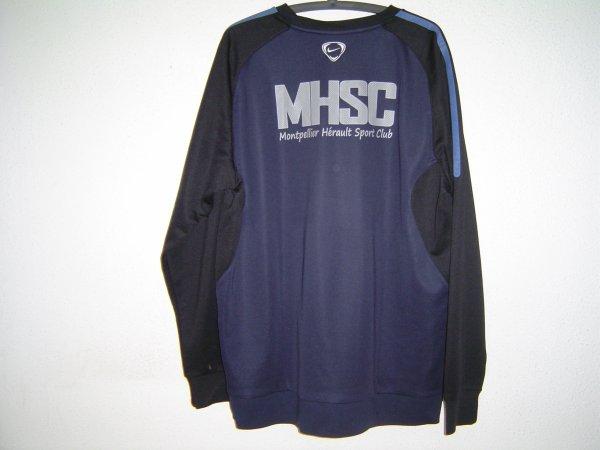Sweat d'entraînement du MHSC porté par Olivier Giroud