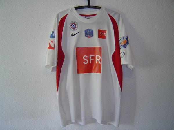 Maillot du MHSC porté en coupe de France 2008-2009