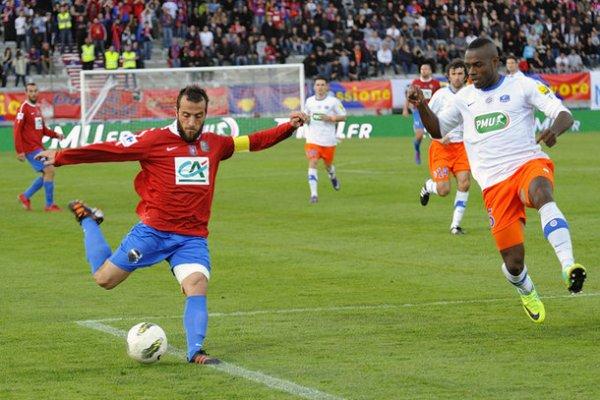 Maillot du MHSC porté en coupe de France 2011/2012 (CABELLA)
