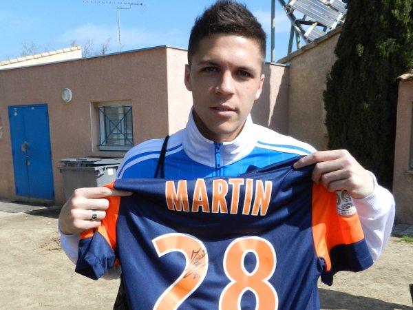 Maillot du MHSC Jonas MARTIN saison 2012-2013