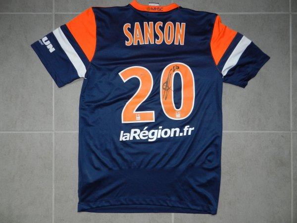 Maillot du MHSC porté par Morgan Sanson saison 2013/2014