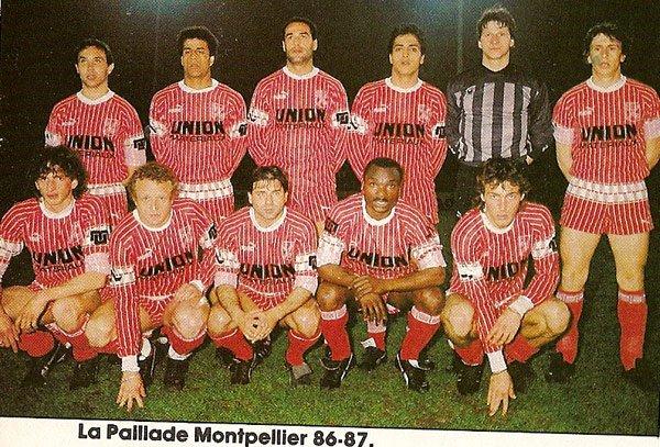 Maillot de Montpellier saison 86-87