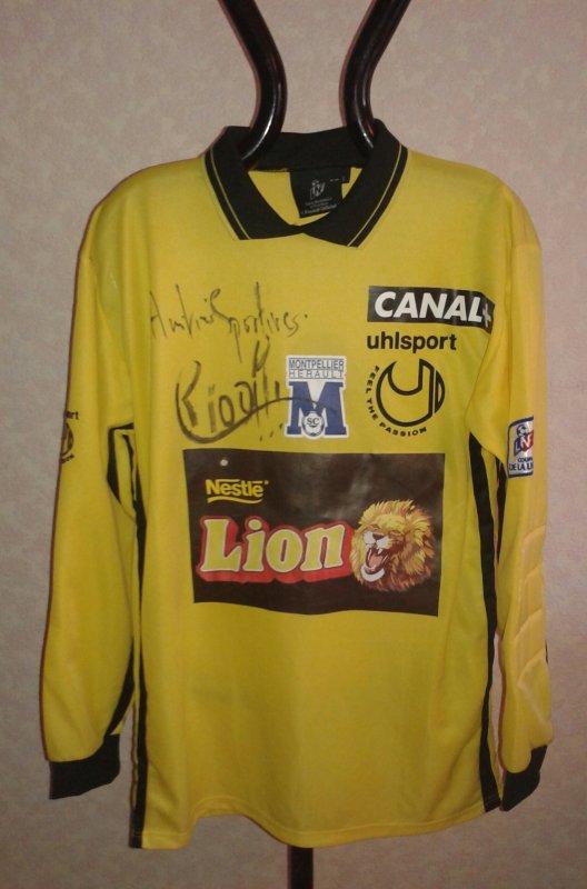 Maillot du MHSC porté en coupe de la ligue 1999-2000