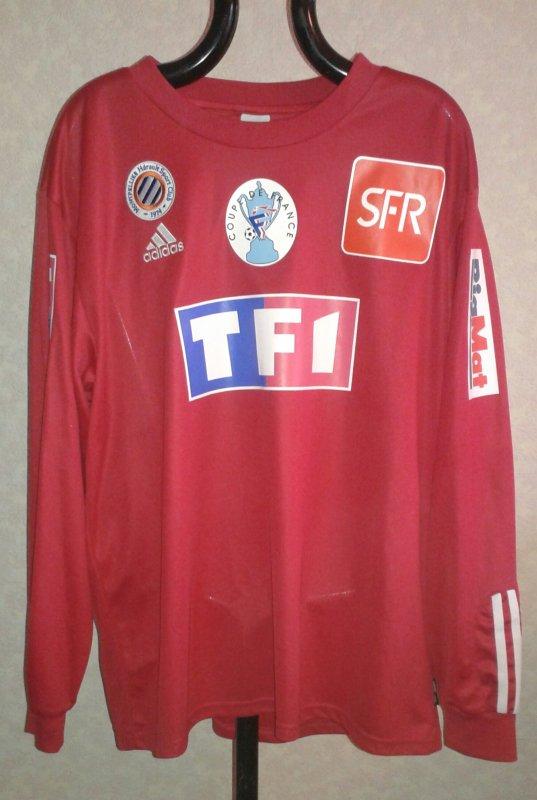 Maillot du MHSC coupe de France saison 2003-2004