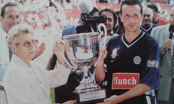 Maillot de Montpellier porté lors de la coupe des princes (2000)