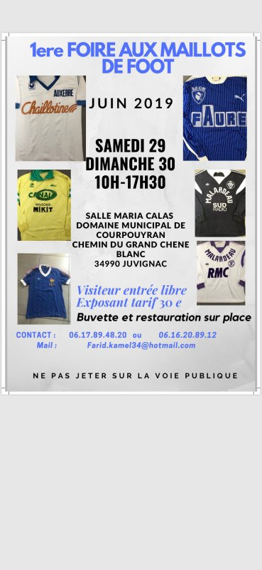 EXPOSITION MAILLOTS DE FOOT A MONTPELLIER