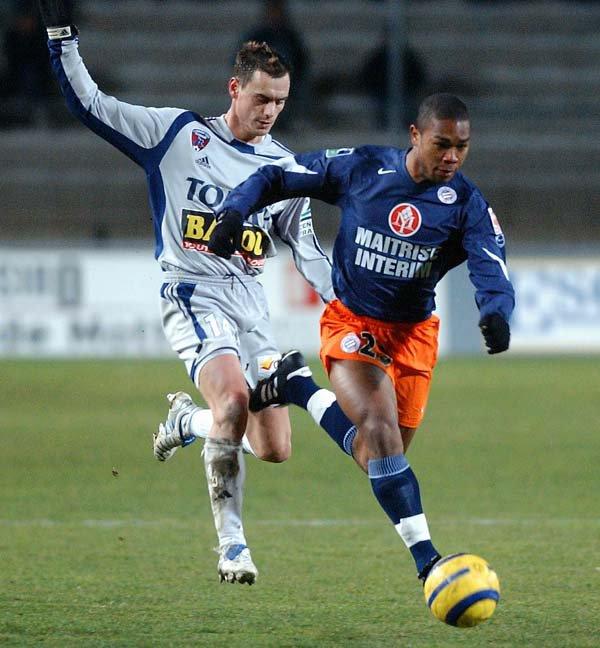 Maillot du MHSC porté par Mathieu LAFON lors de la saison 2004-2005