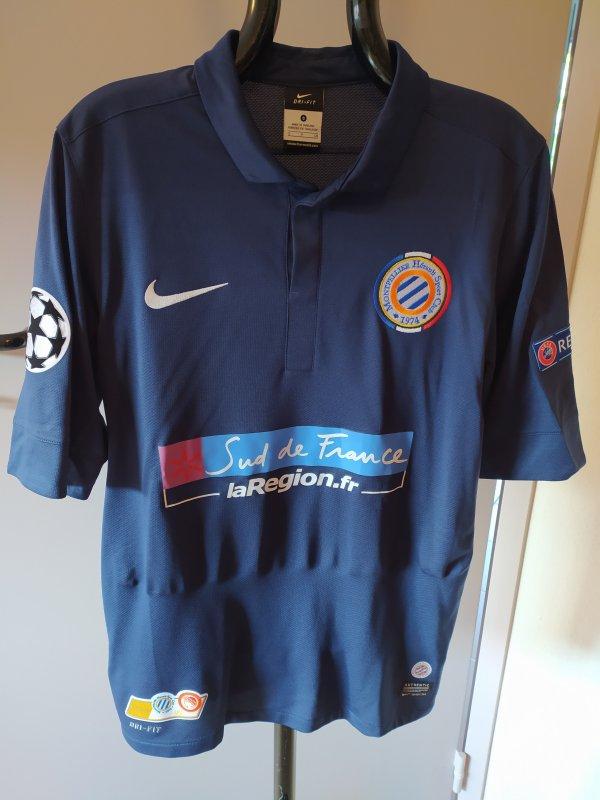 Maillot Collector du MHSC porté en Ligue des Champions 2012-2013