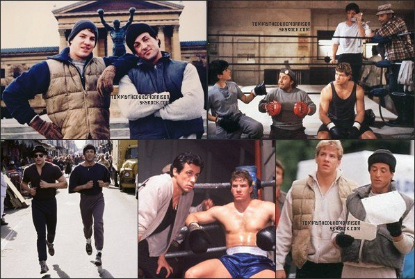 Tommy Morrison and Sylvester Stallone (Rocky V)