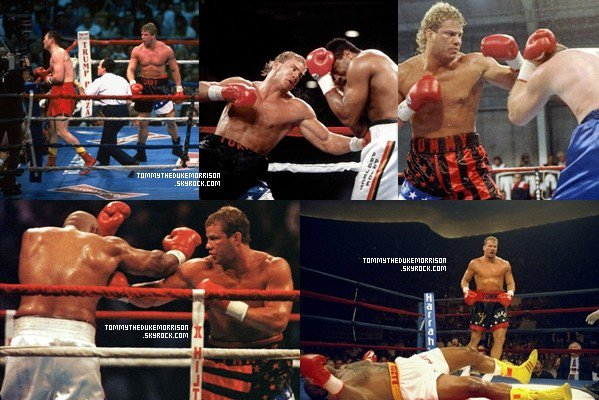 Tommy Morrison in the ring