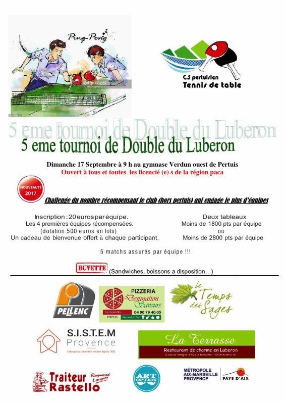 TOURNOI DE DOUBLE DU LUBERON
