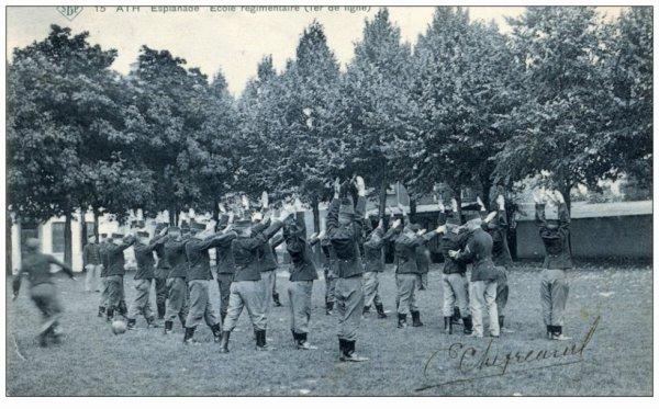 Ath Esplanade Ecole régimentaire (1er de ligne)