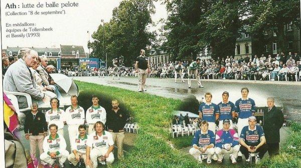 ATH ( Lutte de balle pelote 8 de Septembre ) en médaillons Equipes de Tollembeek et Bassily (1993)