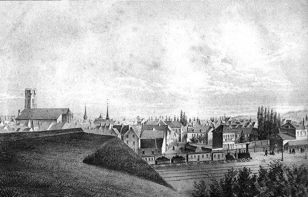 La gare d'Ath en 1851