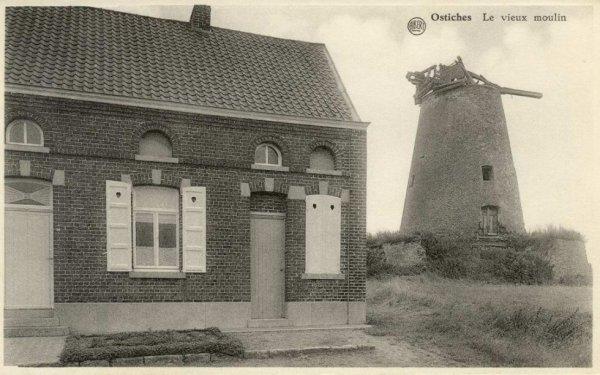 OSTICHES, Le moulin avant sa rénovation.