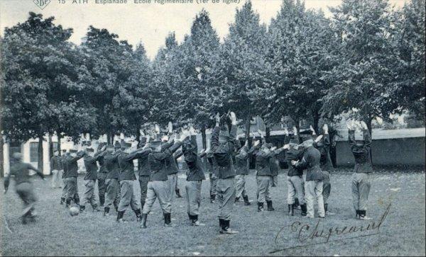 Ath Esplanade Ecole régimentaire (1er de ligne) SBP 15