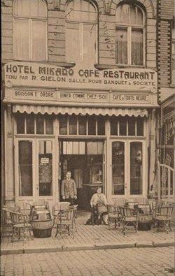 Ath-Rue de la Station Hotel Mikado Café Restaurant.