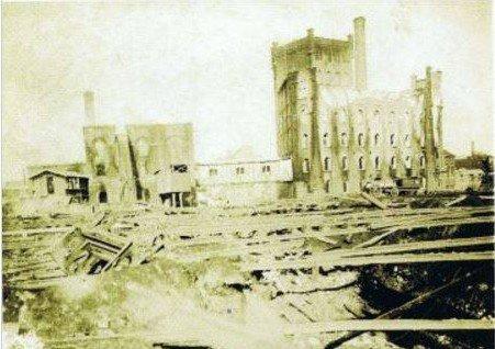 ATH, Le moulin des Estanques - incendié encore une fois dans la nuit du 13 au 14 août 1946 a ensuite été transformé en silo.