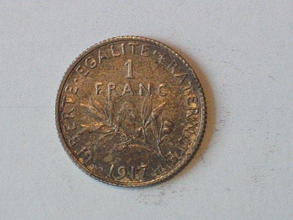 Piéces de 1 francs de la Grande Guerre