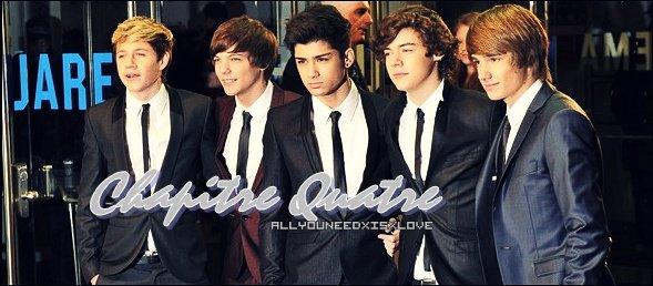 .  Qui n'aime pas Harry Styles, sérieusement ?!  _Chapitre quatre..