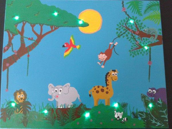 Tableau lumineux jungle