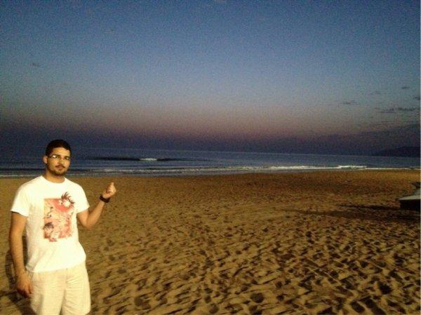 L'aube sur la plage