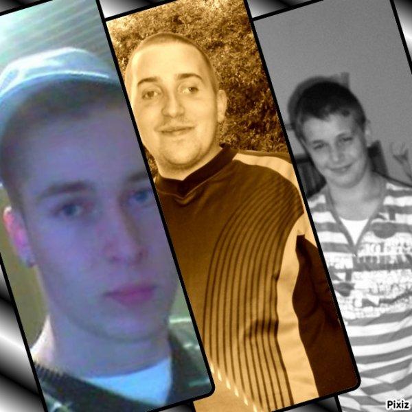 les 3 hommes de ma life ;)