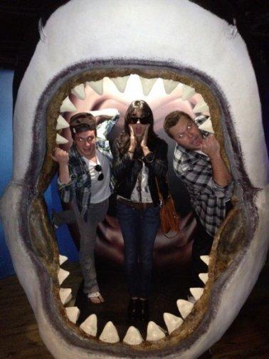 Vanessa a l'aquarium de Melbourne