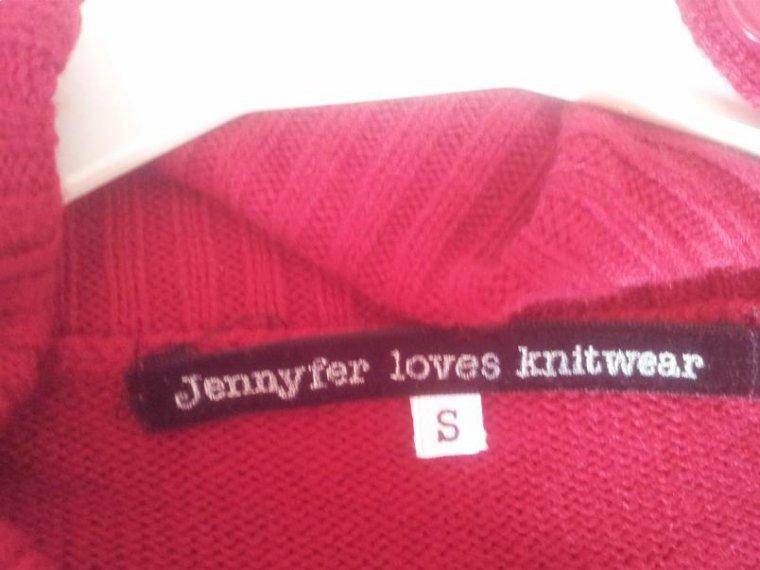 Robe rouge en laine d'hiver (Jennyfer)