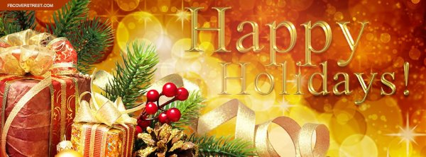 HAPPY HOLIDAYS TO EVERYONE. Wish you the best.