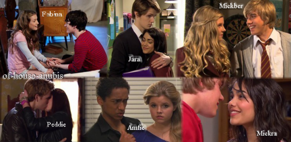 Les couples de the house of anubis