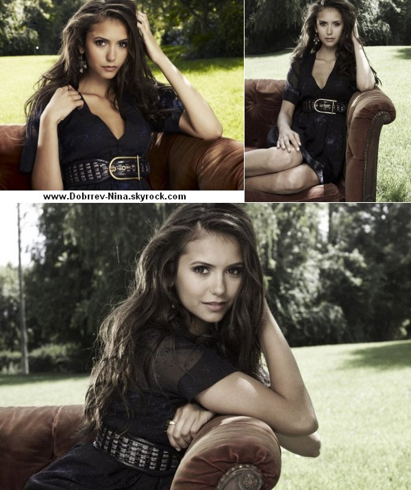 "3 Photos du photoshoot de Nina pour "" TV Guide "" source : ninadobrevfrance"