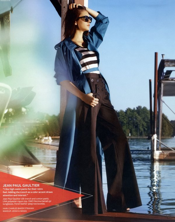 """.   Photoshoot de Nina pour le Magazine """" InStyle """" du mois de Janvier 2011"""